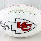 Travis Kelce Signed Autographed Kansas City Chiefs Logo Football BECKETT
