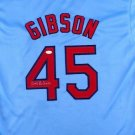 Bob Gibson Autographed Signed St. Louis Cardinals Jersey JSA