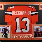 Odell Beckham Jr Autographed Signed Cleveland Browns Framed Jersey JSA