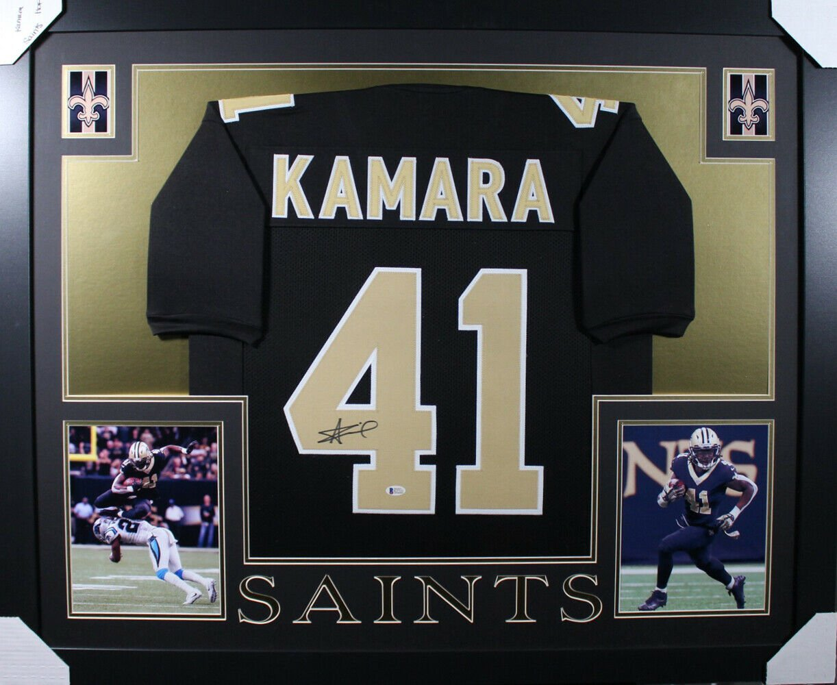 Alvin Kamara Autographed Signed Framed New Orleans Saints Jersey BECKETT