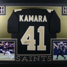 Alvin Kamara Autographed Signed Framed New Orleans Saints Jersey BECKETT