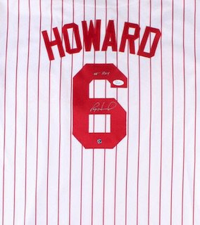 Ryan Howard Autographed Signed Philadelphia Phillies Jersey JSA