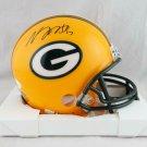 Davante Adams Signed Autographed Green Bay Packers Mini Helmet JSA