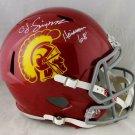 O. J. Simpson Autographed Signed USC Trojans FS Speed Helmet JSA