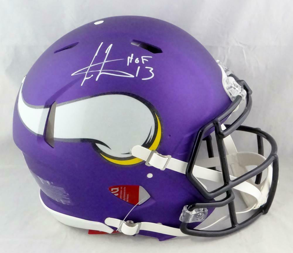 Cris Carter Autographed Signed Minnesota Vikings Speed Proline Helmet BECKETT