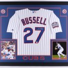 Addison Russell Autographed Signed Framed Chicago Cubs Jersey JSA