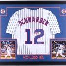 Kyle Schwarber Autographed Signed Framed Chicago Cubs Jersey MLB
