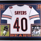 Gale Sayers Autographed Signed Framed Chicago Bears Jersey JSA