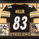 Heath Miller Autographed Signed Framed Pittsburgh Steelers Jersey PSA