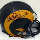 Kurt Warner Autographed Signed Rams Mini Helmet BECKETT