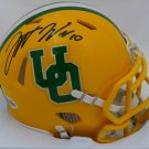 Justin Herbert Autographed Signed Oregon Ducks Yellow Mini Helmet BECKETT