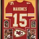 Patrick Mahomes Signed Autographed Kansas Chiefs Framed Jersey JSA