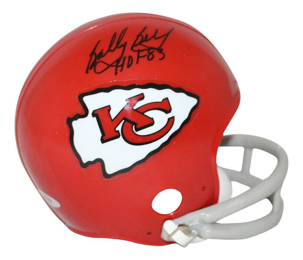 Bobby Bell Signed Autographed Kansas City Chiefs Mini Helmet TRISTAR
