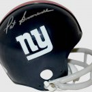 Pat Summerall Autographed Signed New York Giants Mini Helmet JSA