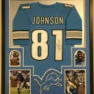 Calvin Johnson Signed Autographed Detroit Lions Framed Jersey BECKETT