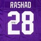 Ahmad Rashad Autographed Signed Minnesota Vikings Jersey JSA