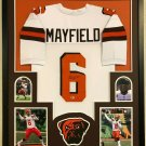 Baker Mayfield Signed Autographed Cleveland Browns Framed Jersey JSA