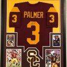 Carson Palmer Signed Autographed Framed USC Trojans Jersey BECKETT