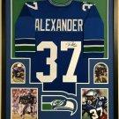 Shaun Alexander Signed Autographed Framed Seattle Seahawks Jersey BECKETT