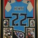 Derrick Henry Signed Autographed Framed Tennessee Titans Jersey JSA