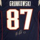 Rob Gronkowski Autographed Signed New England Patriots Jersey BECKETT COA