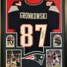 Rob Gronkowski Autographed Framed Signed New England Patriots Jersey BECKETT