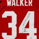 Hershel Walker Signed Autographed Georgia Bulldogs Jersey BECKETT