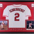Red Schoendienst Autographed Signed Framed St. Louis Cardinals Jersey JSA
