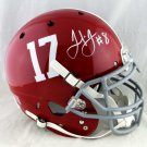 Julio Jones Falcons Signed Autographed Alabama Crimson Tide FS Proline Helmet JSA