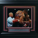 Mike Tyson Evander Holyfield Autographed Signed Framed 8x10 Photo BECKETT