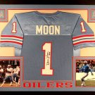 Warren Moon Autographed Signed Houston Oilers Framed Jersey JSA
