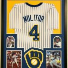 Paul Molitor Autographed Signed Framed Milwaukee Brewers Jersey JSA