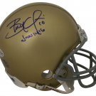 Brady Quinn Autographed Signed Notre Dame Fighting Irish Mini Helmet BECKETT