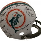 1972 Dolphins (Shula Griese Csonka +23) Autographed Signed Dolphins TK FS Helmet JSA