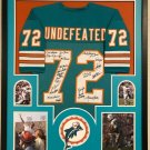 1972 Miami Dolphins Team (22 Signatures) Autographed Signed Framed Dolphins Jersey JSA