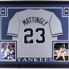 Don Mattingly Autographed Signed Framed New York Yankees Jersey JSA