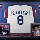 Gary Carter Autographed Signed Framed Montreal Expos Jersey JSA