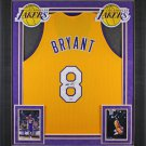 Kobe Bryant Autographed Signed Framed Los Angeles Lakers Jersey PSA