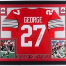 Eddie George Autographed Signed Framed Ohio State Buckeyes Jersey JSA