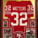 Rickey Watters Autographed Signed Framed San Francisco 49ers Jersey JSA