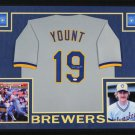 Robin Yount Autographed Signed Framed Milwaukee Brewers Jersey JSA
