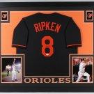 Cal Ripken Jr. Autographed Signed Framed Baltimore Orioles Jersey JSA