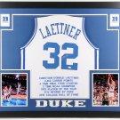 Christian Laettner Autographed Signed Framed Duke Blue Devils Jersey JSA