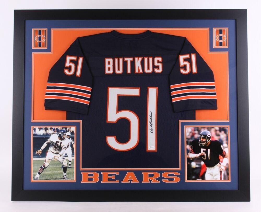 Dick Butkus Autographed Signed Framed Chicago Bears Jersey JSA
