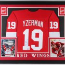 Steve Yzerman Autographed Signed Framed Detroit Red Wings Jersey JSA