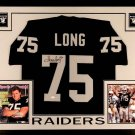 Howie Long Autographed Signed Framed Oakland Raiders Jersey JSA