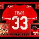 Roger Craig Autographed Signed Framed San Francisco 49ers Jersey PSA