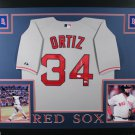 David Ortiz Autographed Signed Framed Boston Red Sox Jersey FANATICS