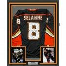 Teemu Selänne Autographed Signed Framed Anaheim Ducks Jersey BECKETT