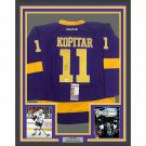 Anze Kopitar Autographed Signed Framed Los Angeles Kings Reebok Jersey JSA